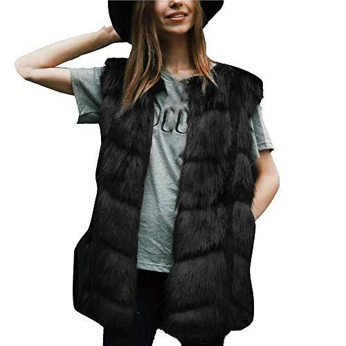 Jassen Dames Faux Vest Winter Jas Parka Jas Vest Vrouwen Winter Modieuze Completi Vest Wol Vest Warm Mouwloze Jassen Winterjas Effen Kleur Bovenkleding Maat S 3XL