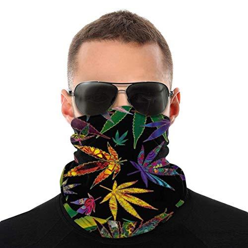 UKUK Pot Leaves Multifunctional headwear leggings magic scarf mask balaclava sports yoga motorcycle riding running