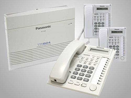 Panasonic KX-TA824 & 3 KX-T7730 Phones White