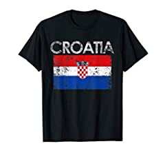 Heritage Croatia Croatian Jersey Flag pride Patriotic DNA tshirt gifts for youth toddler kids mom dad brother sister son daughter boys girls family friend sports game fan of soccer football basketball rugby hockey volleyball national team. It's my fu...
