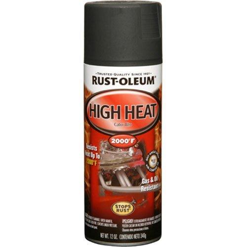 Rust-Oleum, Flat Black 248903 Automotive 12-Ounce High Heat 2000 Degree Spray Paint