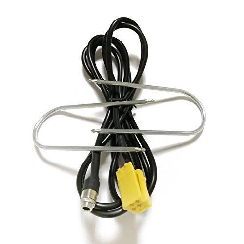 XZANTE Cable Auxiliar de la Radio del Coche Adaptador de Cable 6Pines Aux Mini ISO con Herramientas de eliminacion de Radio aplicable a Fiat Grande Punto Alfa Romeo
