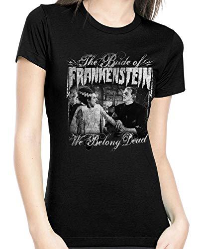 The Bride of Frankenstein Juniors We Belong Dead Tee T-Shirt L