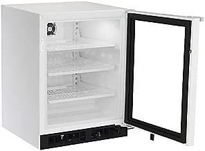 Marvel/Div Northland MS24RAG4RW Glass Door Refrigerator, 5.3 cu. ft. Capacity, Right Hinge, Frost Free, White Frame, 115V/60 Hz