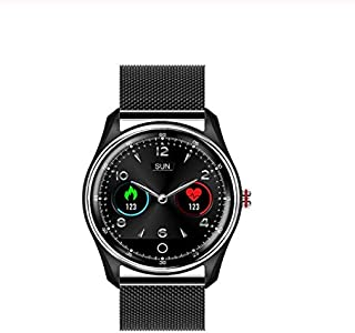 $58 » RONSHIN MX9 ECG+PPG Smart Watch Bracelet With Electrocardiograph Heart Rate Blood Pressure Monitor Smartwatch Black steel belt Electronic Accessories