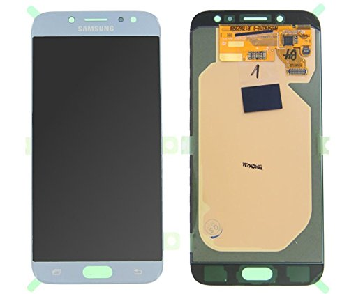 Handyteile24 ✅ LCD Display Digitizer Touchscreen in Blau Silber GH97-20801B für Original Samsung Galaxy J7 (2017) J730F