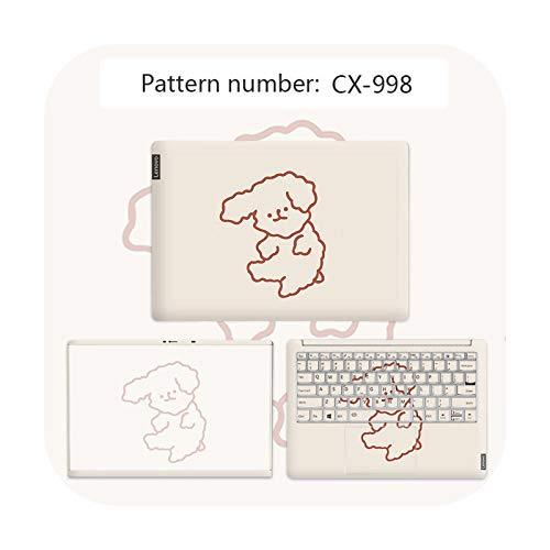 Lindo oso cubierta para ordenador portátil DIY Cartoon Skin PVC fácil de pegar para Lenovo G40 80/Flex 3 1570/YOGA 710/Ideapad 330 etc.-CX-998-flex 4 1470