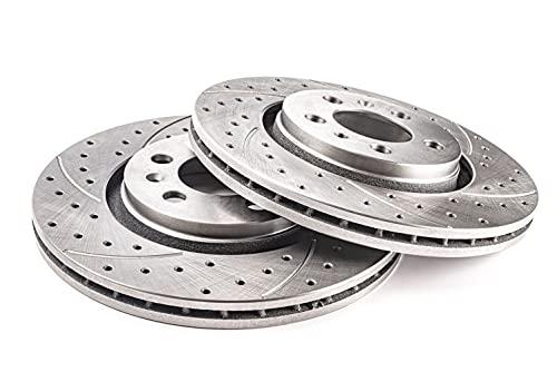 Discos de freno GT Sport compatibles con DACIA LOGAN I Berlina EXPRESS Kombi 2004 2005 2006 2007 2008 2009 2010 2011 2012 - 1720GV - delantero - ventilado - Agujeros 4 - diámetro 259x20,6