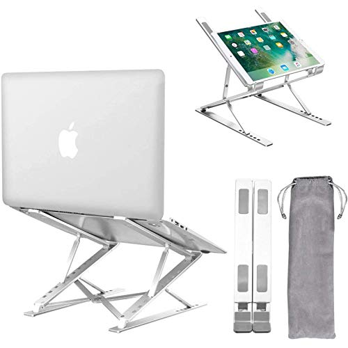 Laptop Stand,Ergonomic Ventilated Laptops Riser With 15 Adjustable Levels, Fully Foldable Portable Laptop Holder Compatible with Computer Notebook ,Tablet,iPad,Mac MacBook Pro Air, Lenovo, HP, Dell Up