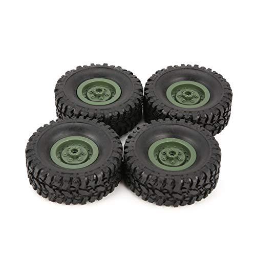 Ashley GAO 4 Piezas de neumático de llanta de Rueda de Goma para RC 1/16 Coche de Oruga de Escalada WPL B-1 / B-24 / C-14 / C-24 / B-16 Piezas de Repuesto para Camiones Accesorios