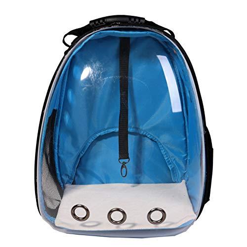Aida Bz Pet Bag Pet Box Transparent Espace Pet Bag Chat Sac à Dos Portable Cat Cage Chat Sac,Blue