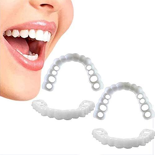 Heizung Braces Cosmetic Snap Dentier Sourire Parfait Haut Et Bas Dentier Esthetique Amovible Instant Smile Comfort Kit Faux Dent Accolades De Simulation 2 Paire