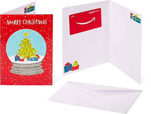 Amazon.co.uk Gift Card - In a Greeting Card - £20 (Christmas Snow Globe)