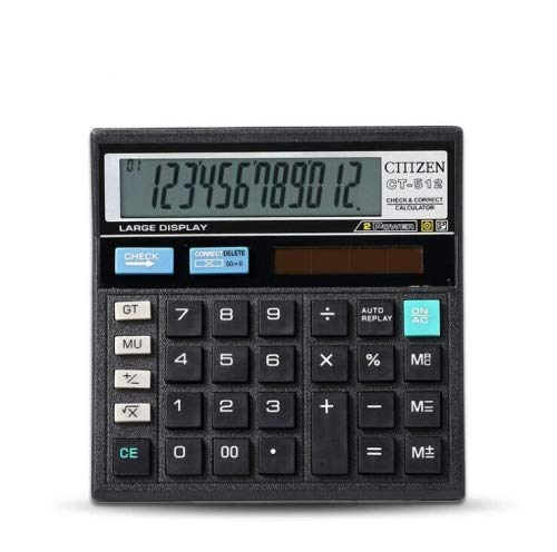 Generic GTTTZEN CT512 Economical Solar Decoration Office Supplies Desktop Calculator