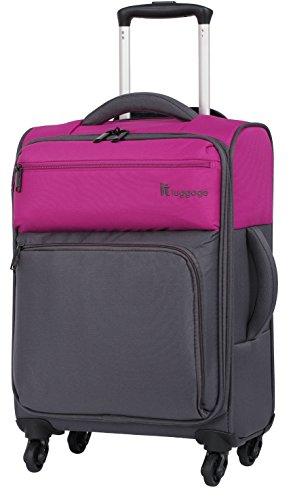 it luggage Duotone 4 Wheel Luggage Spinner (18', Fuchsia/Magnet)