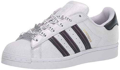 adidas Originals Women's Superstar Sneaker, White/Black/Gold Metallic,7.5 M US