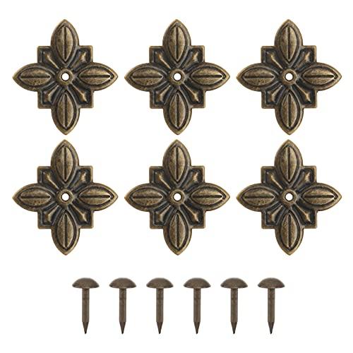 Angoily Muebles de Tapicería Tachuelas Clavos Clavos Tachuelas Decorativas Cabezas de Uñas Muebles Antiguos Tachuelas de Latón para Muebles Tapizados Tablero de Corcho O Proyectos de
