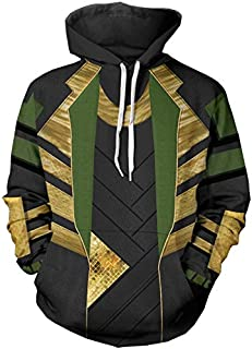 Loki Hoodie Sweatshirt Costume Jacket Coat for Mens Spring Autumn