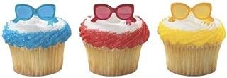 24 pc - Summer Fun Sunglasses Cupcake Picks by DecoPac