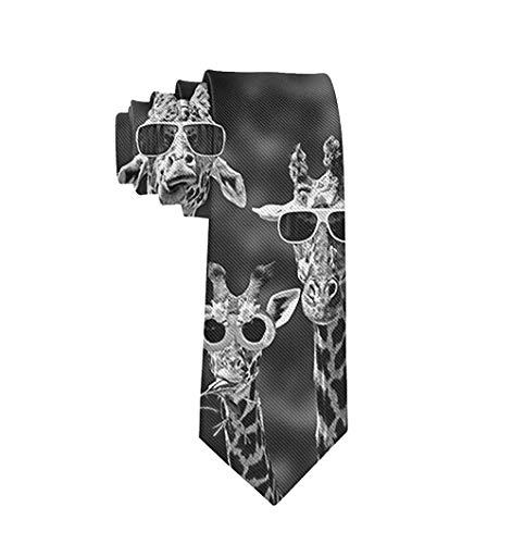 Tie Funny Neckties Colorful Funny Giraffes Set Fashion Wide Novelty Neck Ties For Men teen