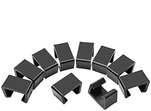 COITEK 10 PCS Patio Wicker Furniture Clip, Black Plastic Sofa Alignment Fasteners for Home Furniture (M)