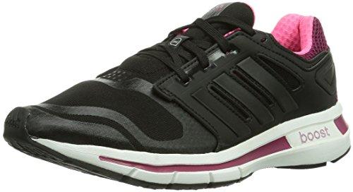 adidas Revenergy Techfit, Damen Laufschuhe, Schwarz (Black 1 / Black 1 / Tribe Berry F14), 38