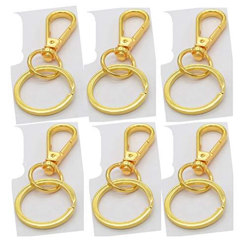 HEALLILY 25 piezas de 38 mm de pinza de langosta con 30 anillos de llavero, kit de accesorios de joyería para manualidades y...