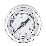 Ballylelly TS-Z51 1/8 '' NPT Compresor de Aire Manómetro de presión hidráulica 0-60 PSI Montaje Posterior