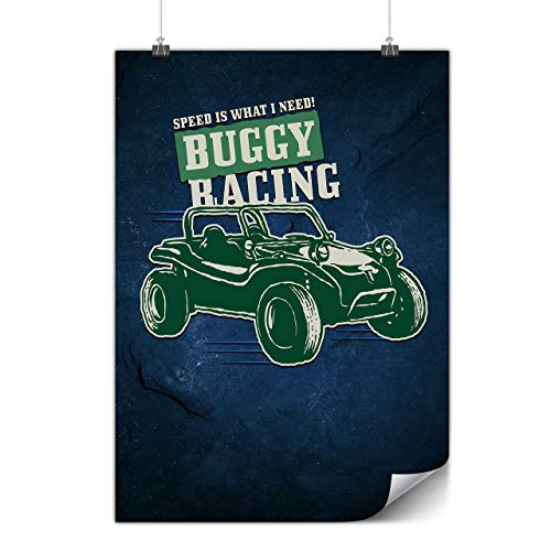 Wellcoda Buggy Rennen Plakat Automobil A2 (60cm x 42cm) Mattes schweres Papier, Ideal für die Gestaltung, Einfach zu hängen Kunst