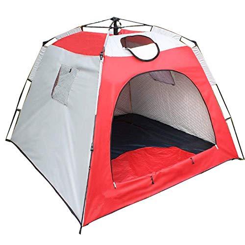 QQW Tenda Invernale Ispessimento Del Vento Caldo Tende per 3-4 Persone Cuciture Automatiche Tende da Pesca Sul Ghiaccio Portatili Turismo per Brevi Fine Settimana in Famiglia,Rosso,210X210X170Cm