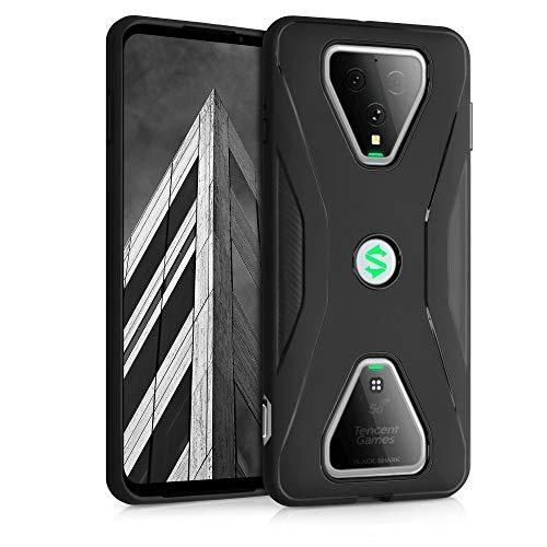 kwmobile Hülle kompatibel mit Xiaomi Black Shark 3 / 3S - Handyhülle Silikon Hülle - Carbon Schwarz