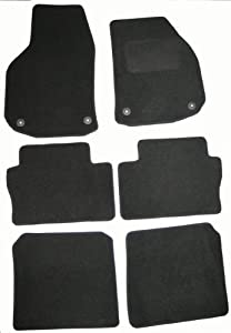 AoE Performance 9134683 Tailored Car Mats  Premium Black with Black Trim