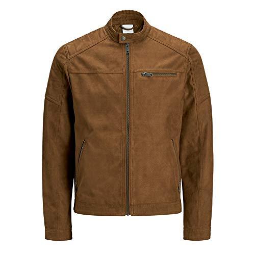 JACK & JONES Mens JJEROCKY NOOS Jacket, Cognac, XL