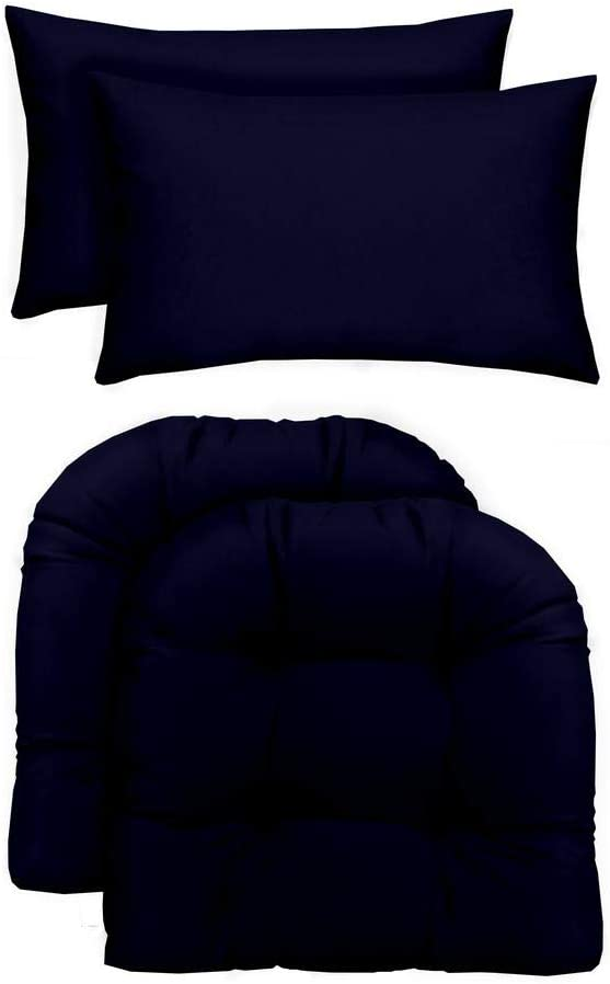 RSH Décor Indoor Outdoor Max 77% OFF - 2 Cushions Wicker Sales Chair Large U-Shape