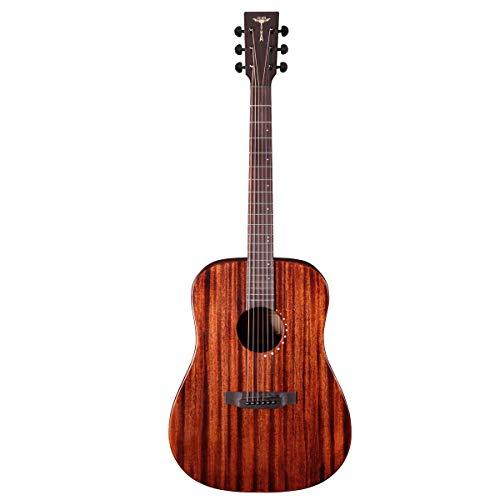 Tyma-STAGE-V1E-LEFT - Steelstring gitaar links w/ingebouwde pickup, Gigbag inbegrepen