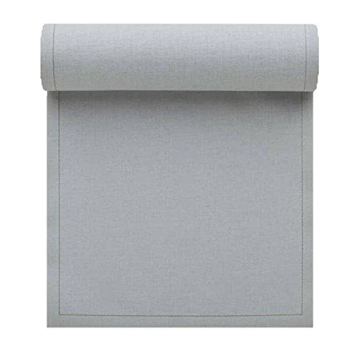 Serviette de table en coton 32x32cm - Rouleau de 12 serviettes - Gris Perle