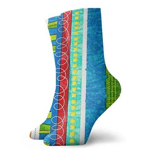 Unisex Bug's Life Funky Stripe Atmungsaktive Fantasy Knöchellauf Wandersocken-Wochenendsport Athletic Socks Kurze Crew Socken 30 cm