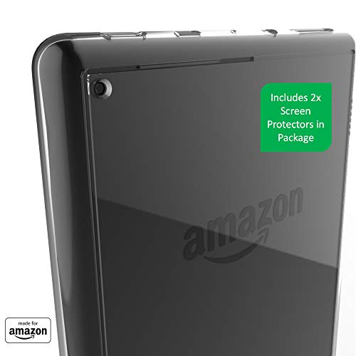All New, Made For Amazon Clear Case with Screen Protector for Fire HD 8 Tablet (10th Generation, 2020 Release)
