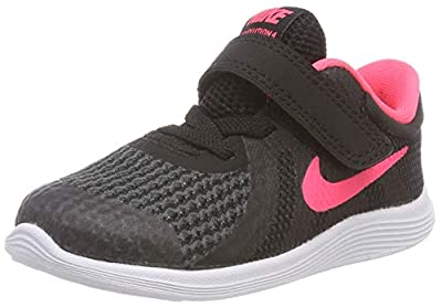 Nike Girls' Revolution 4 (PSV) Running Shoe, Wolf Grey/Racer Pink-Cool Grey-White, 12C Child US Little Kid