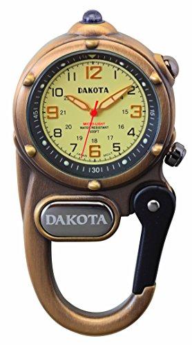 ダコタ ミニクリップウォッチ マイクロライト Dakota Mini Clip Microlight アンティークブラス 3821-3 [並行輸入品]