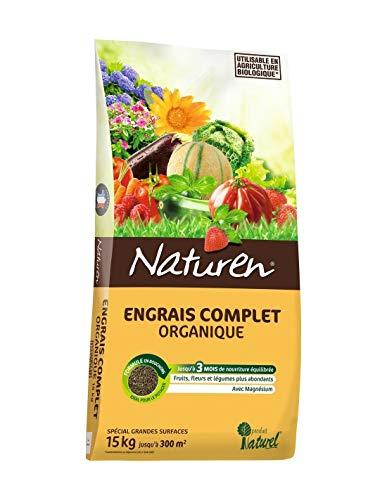 NATUREN Engrais Complet Organique 15kg+5kg offerts