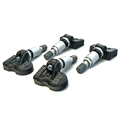 i-vent RDKS/TPMS – Sensores de presión de neumáticos para BMW Serie 5 – Tipo F10 / F11 – (período de construcción de 03/2014 a 01/2017) – Válvula de metal plateada – Número de OE: 36106890964 – 1