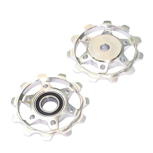 NC-17 Fahrrad Schaltrollen/Schaltwerk/Schalträdchen/Pulley/für Shimano/SRAM/Campagnolo Schaltwerkrollen, Silber, One Size
