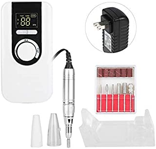 Electric Nail Art Drill, 35000Rpm Electric Nail Driller Machine Manicure Polishing Cuticle Grinding Nail Drill File Nail Care Tool Equipment for Salon and Home Use(02)