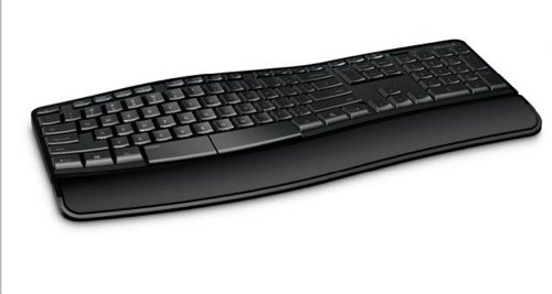 Microsoft Sculpt Comfort Desktop Tastatur RF Wireless QWERTZ Deutsch Black Tastaturen Standard Kabellos RF Wireless QWERTZ Black Maus enthalten