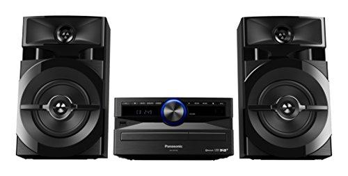 Panasonic SC-UX102E-K Sistema Mini, 300 W, Speaker a 2 Vie, Woofer da 13 cm, Lettore CD, CD-R R W, Bluetooth, USB, DAB DAB+, 30FM 15AM RDS, AUX, Audio di Qualità, Illuminazione Blu, Nero