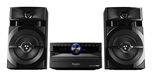 Panasonic SC-UX102E-K Sistema Mini, 300 W, Speaker a 2 Vie, Woofer da 13 cm, Lettore CD, CD-R/R W, Bluetooth, USB, DAB/DAB+, 30FM/15AM RDS, AUX, Audio di Qualità, Illuminazione Blu, Nero