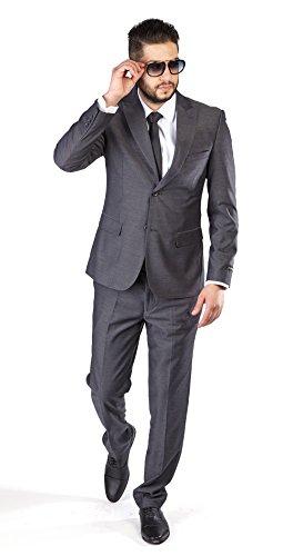 MOGU Mens New Casual Slim Fit Skinny Dress Suits 3 Piece US Size 38 (Label Size Jacket 54, Pants 34) White