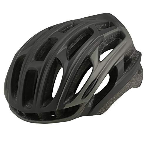 HVW Adultos Bicicletas para Bicicletas Cascos, Cascos De Montaña Cascos con Alumno De Seguridad Luz Trasera De Una Pieza Moldeado De Una Pieza Tamaño Ajustable Unisex Protected Cycle Casco,F