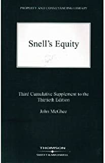 Snell's Equity: 3rd Supplement to 30r.e.